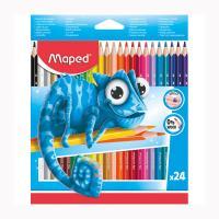 Набор цветных карандашей Maped - 24 цвета - Трехгранные - Пластиковые