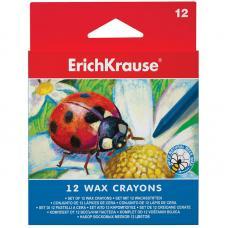 Мелки восковые Erich Krause - 12 цветов - Закругленные