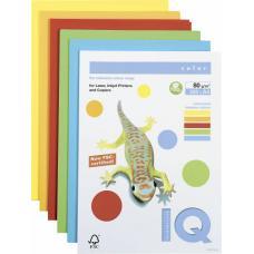 Бумага цветная IQ Color - А4 - 250 листов - Набор насыщенных цветов
