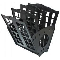 Лоток для бумаг Веер - 4 отделения - Черный