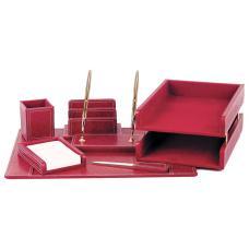 Настольный набор - 7 предметов - Бордовый