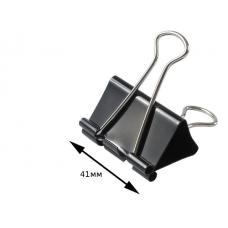 Зажим для бумаг - 41 мм - Черный