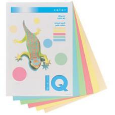 Бумага цветная IQ Color - А4 - 250 листов - Набор пастельных цветов