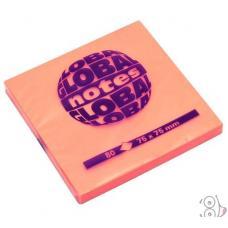 Стикеры Global Notes - 75*75 мм - 80 листов - Оранжевый неоновый