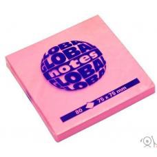 Стикеры Global Notes - 75*75 мм - 80 листов - Розовый неоновый