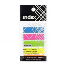 Закладки клейкие Index - 12*45 мм - 5 цветов - Пластиковые