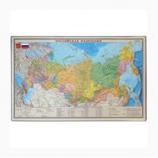 Коврик настольный OfficeSpace - 38*59 см - Карта РФ