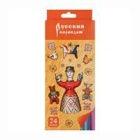 Карандаши цветные Русский карандаш Фольклор - 24 цвета