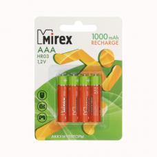 Батарейка аккумуляторная Mirex - ААА - 1,2V - 1000 мАч - 1 шт