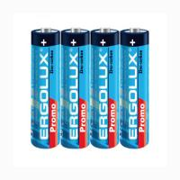 Батарейка Ergolux PROMO - ААА - 1,5 V - R03 - 4 шт