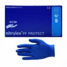 Перчатки нитриловые Nitrylex Protex - Неопудренные - Размер L