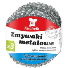 Губка для посуды Kuchcik - Металлическая - 3 штуки