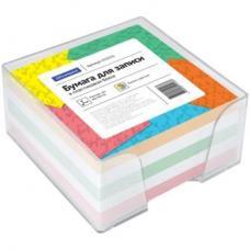 Блок для записей OfficeSpace - Цветной - 9*9*4,5 см - Пластиковый бокс