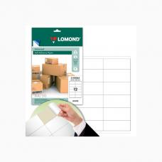 Наклейки бумажные Lomond - А4 - 50 листов - 105*48 мм - 12 шт на листе