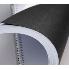 Обложка для перфопереплета O.Universal - А4 - Картон - 100 листов - Черная