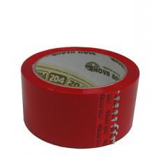 Скотч упаковочный - 45 мкм - 48 мм - 66 м - Красный