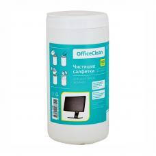 Туба с чистящими салфетками OfficeClean - 100 штук