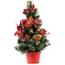 Ель новогодняя с украшением - 35 см