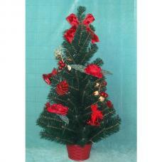 Елка новогодняя настольная - украшенная - 60 см