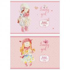 Альбом для рисования Персонажи - Lovely dolls - 8 листов -  А4 - На скрепке