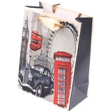 Пакет подарочный Лондон - 12*16*6.5 см - Матовый