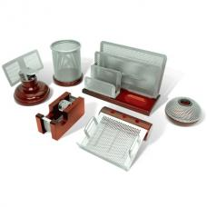 Настольный набор Brauberg Germaium - 7 предметов - Металл, дерево