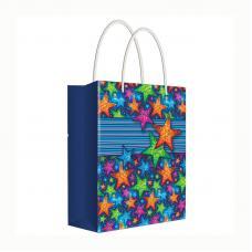 Пакет подарочный Звездный - 18*22,7*10 см - С ламинацией