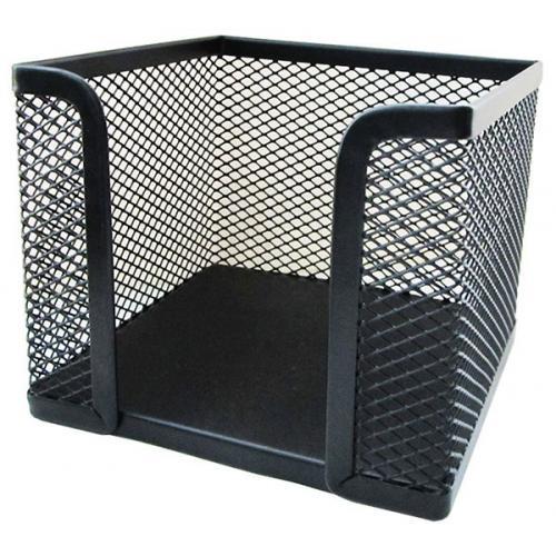 Подставка (бокс) для бумаг металлическая Horer 8 cm*9,5 cm*9,5 cm черная арт. Z701А