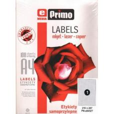 Наклейки бумажные ePrimo -  А4 - Неделенные - 210*297 мм - 100 листов