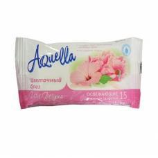 Салфетки влажные Aquella Цветочный бриз - 15 шт - освежающие