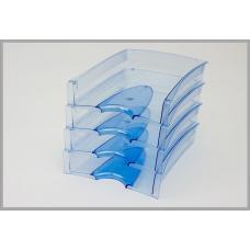 Лоток горизонтальный - Премиум - прозрачный синий