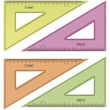 Треугольник 30° - 18 см - прозрачный флуоресцентный - 4 цвета