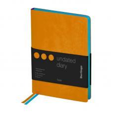 Ежедневник недатированный Berlingo Fuze - В6 - 136 листов - Оранжевый