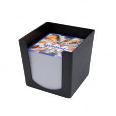 Бокс с бумагой для заметок Юниопт - 9*9*9 см - Черный