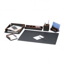 Набор настольный деревянный Delucci - 6 предметов - Светло-черный