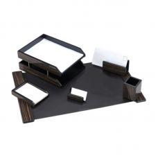 Набор настольный деревянный Delucci - 6 предметов - Эбонитовое дерево