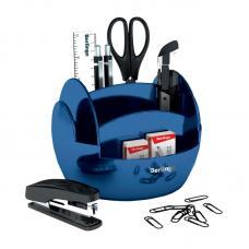 Набор настольный Berlingo FR - 9 предметов - Пластик - Синий