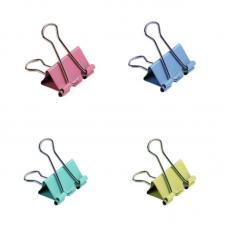 Зажим для бумаг - 25 мм - Цветной