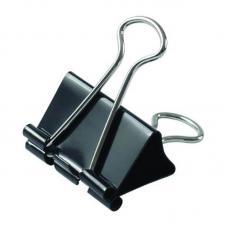 Зажим для бумаг - 25 мм - Черный
