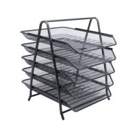 Лоток горизонтальный металлический Berlingo - 5 отделений - Черный