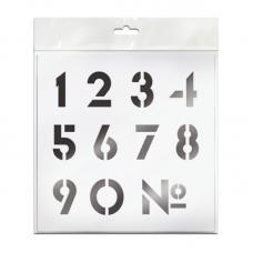 Трафарет Unibob Цифры - Пластик - 20*20 см