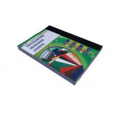 Обложка для перфопереплета Leather Grain - А4 - Синяя - 250 г - 100 листов