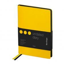 Ежедневник недатированный Berlingo Fuze - В6 - 136 листов - Желтый