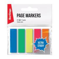 Флажки-закладки пластиковые Berlingo Ultra Sticky - 44*12 мм - 125 листов - 5 цветов