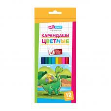 Набор цветных карандашей ArtSpace Динозаврики - 12 цветов