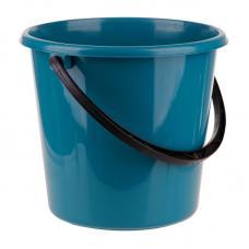 Ведро пластмассовое OfficeClean пищевое - 7 л - Сине-зеленое