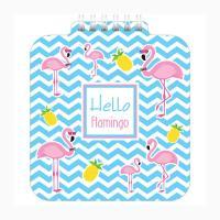 Блокнот Hatber Hello flamingo - А6 - На спирали - 60 листов