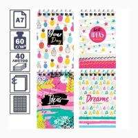 Блокнот ArtSpace Cheerful pattern - А7 - На спирали - 40 листов