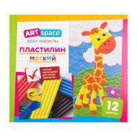 Пластилин ArtSpace - 12 цветов - Со стеком