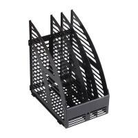 Лоток вертикальный OfficeSpace - Пластик - 3 секции - Черный
